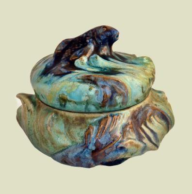 Pierrefonds Art Nouveau Box With Fish Crazybox