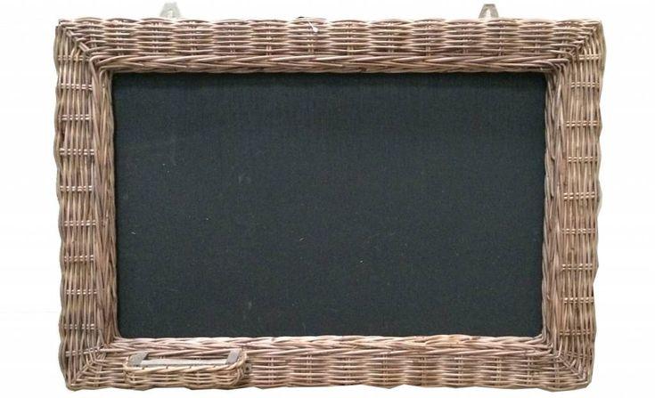 Sweet Living Rieten Schoolbord - 62x42 cm