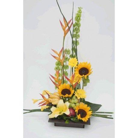 Arreglo Floral Frutal con Girasoles