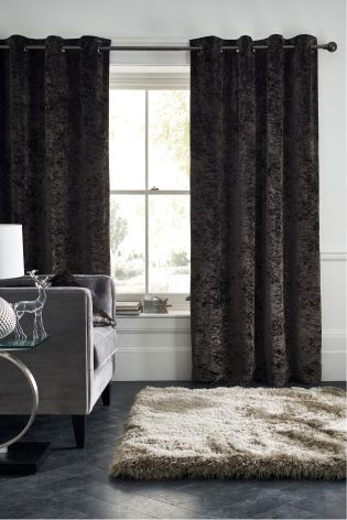 Buy Crushed Velvet Eyelet Curtains online today at Next: Rep. of Ireland