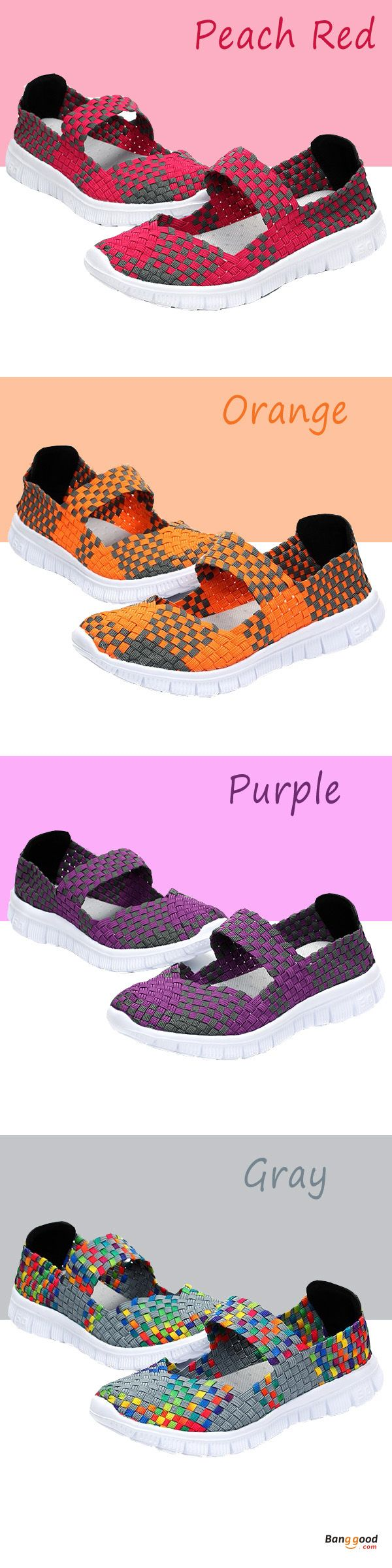 US$21.99 + Free shipping. Size(US): 5~11. Color: Orange, Purple, Gray, Peach Red. Upper Material: Woven Belt. Fall in love with casual and sport style! Summer Sandals, Women Flat Sandals, shoes flats, shoes sandals, Casual, Outdoor, Comfortable.