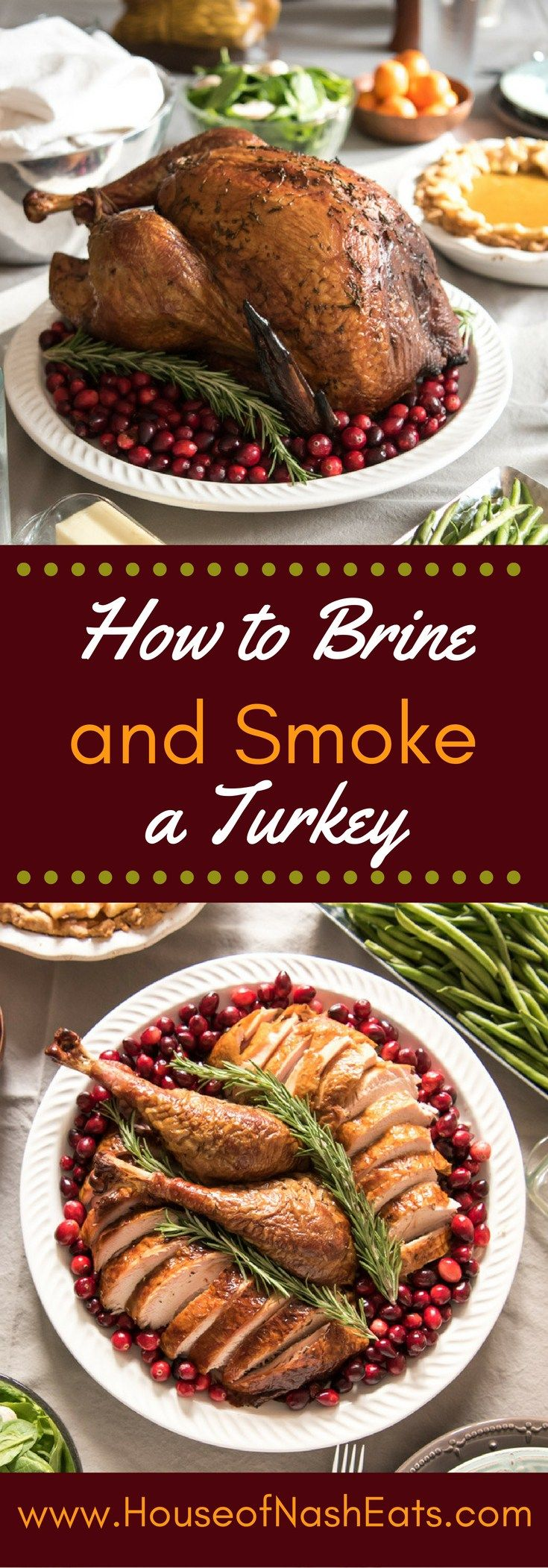 The juiciest, most succulent smoked turkey ever! Brining your bird helps it stay extra moist, while the smoke from the applewood creates the most flavorful turkey you will ever try!
