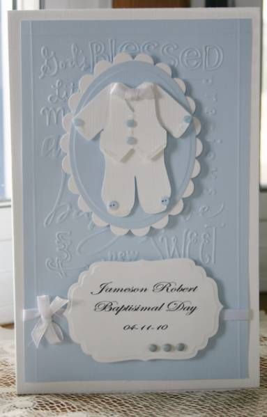 Baby boy's Baptismal card by Holstein - Cards and Paper Crafts at Splitcoaststampers