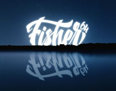 """Check out new work on my @Behance portfolio: """"Identity for fishing club - Fisher64"""" http://be.net/gallery/44782081/Identity-for-fishing-club-Fisher64"""