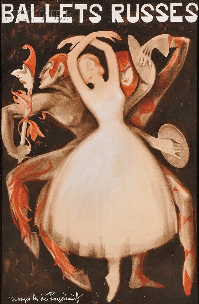 Georges de Pogédaïeff (Russian, 1897-1971) Ballets Russes | Sale Number 2673B, Lot Number 410 | Skinner Auctioneers | Estimate: $10,000-15,000