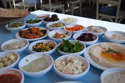 Meze in Israel - yummy food!