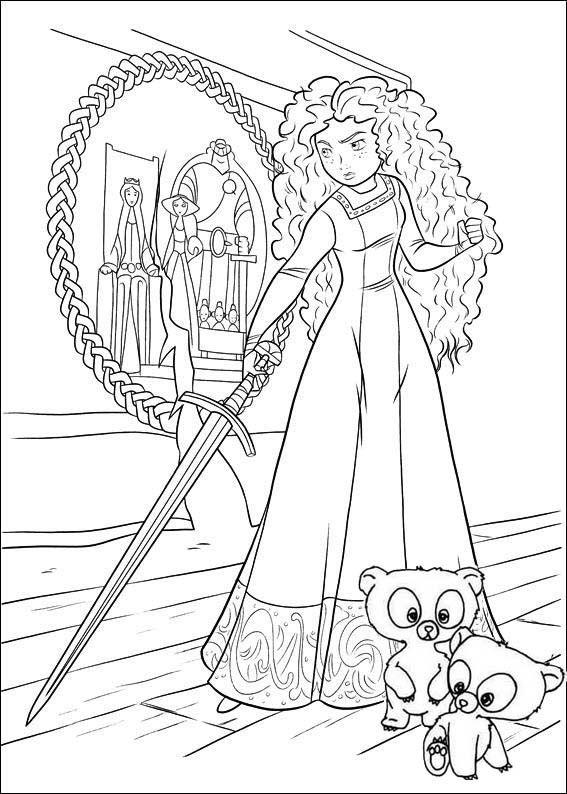 Princess Merida Disney Brave Coloring Page Disney Coloring Pages Princess Coloring Pages Cartoon Coloring Pages
