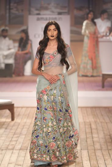 Sheer florals: Monisha Jaising