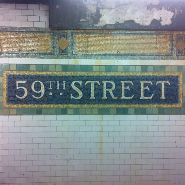 Mosaic in the Subway of NY