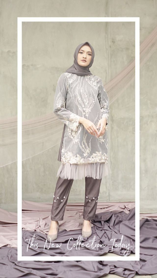 Baju Kondangan Simple Hijab Celana