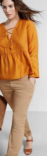 Модные летние блузки, туники, топы для полных [фото]