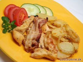 Pečené kuracie prsia so zemiakmi, recept
