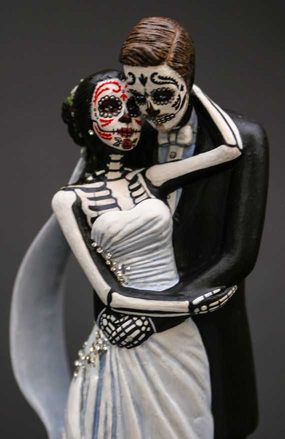 Day of the Dead Bride and Groom Cake Topper  by temikasperry