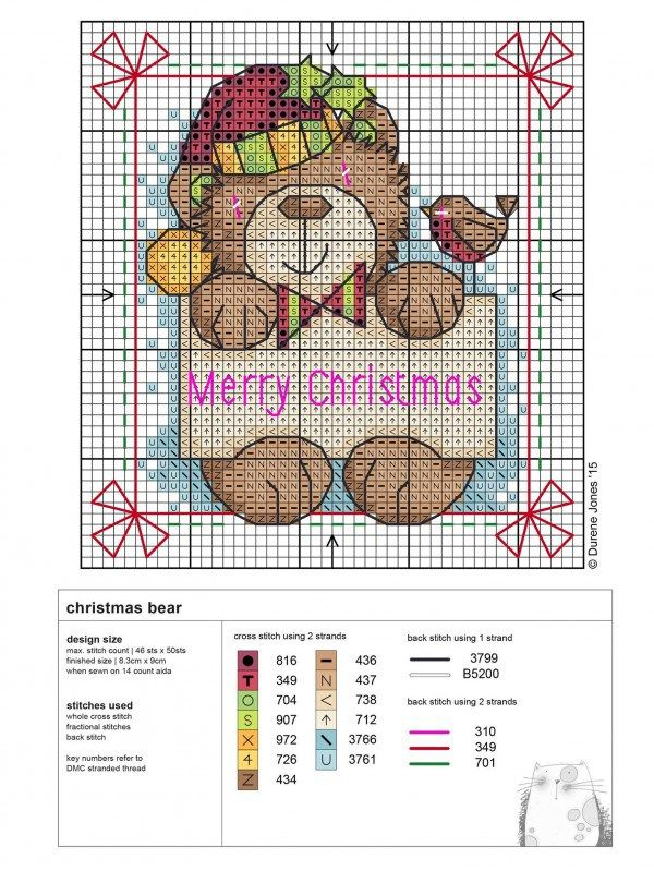 Durene Jones has yet again provided us with another amazing and might add free Cross stitch chart. This chart is for a Christmas bear holding a little Christmas sign. You can download the chart by … More
