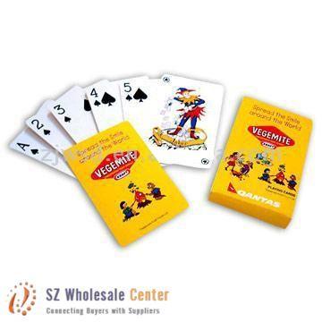 Vegemite playing cards