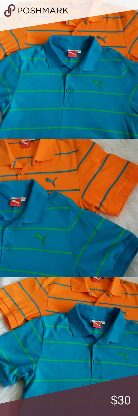 Mens Puma Polo Collar Golf Sports Shirts Bundle Shirts Polo Mens Collar Puma Golf Sports Shirts   Two Puma Polo Shirts  Condition is very good on both shirts.  Both are a size small  Puma Shirts Polos