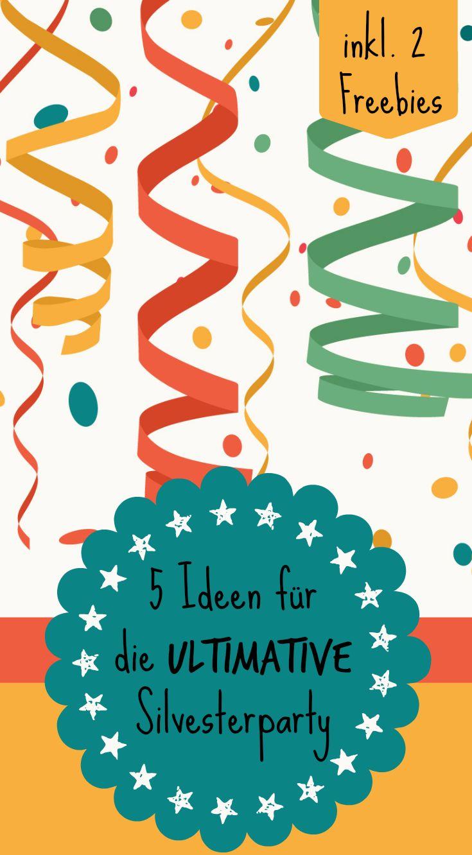 36 besten silvester party ideen bilder auf pinterest silvester party neujahr und advent. Black Bedroom Furniture Sets. Home Design Ideas