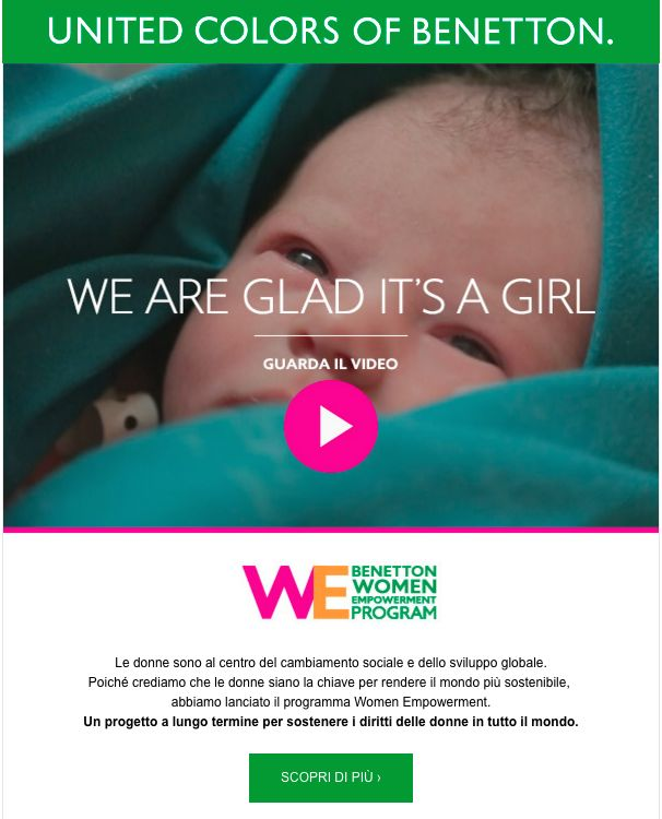 Benetton email