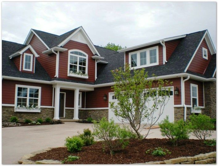 Red Exterior House Color Combinations