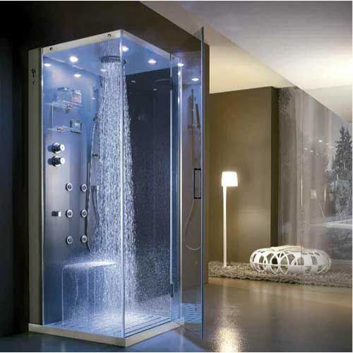 A rain shower. How our shower head is suppose to work, too bad we don't have water pressure :(