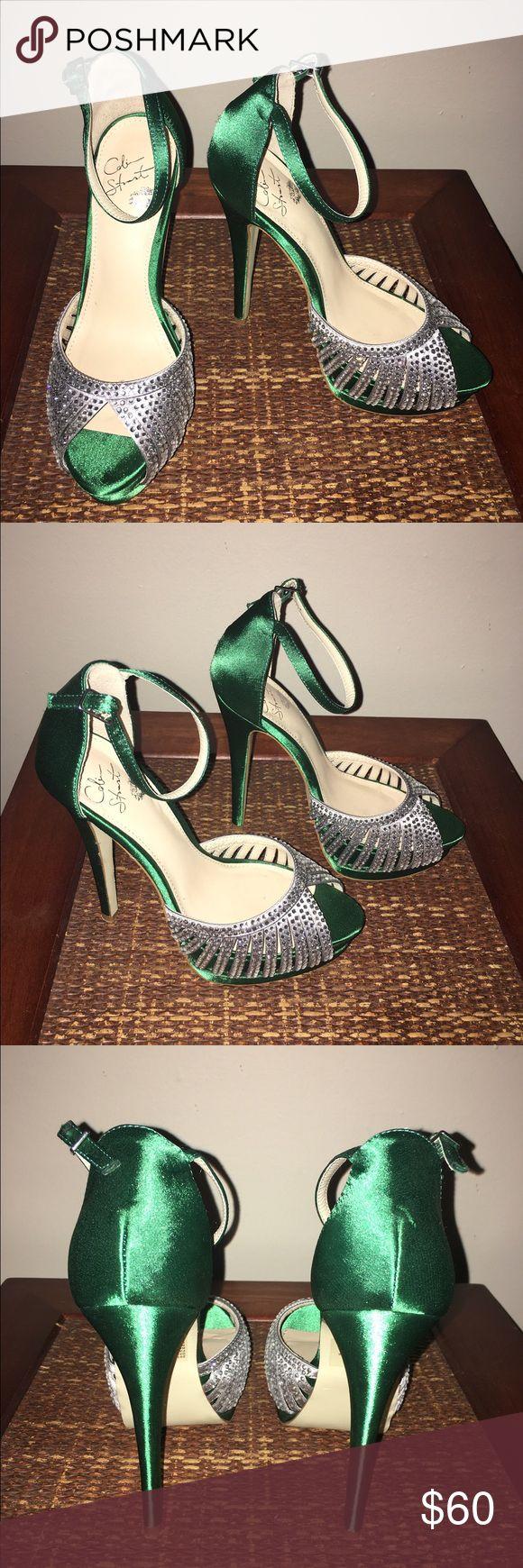 Colin Stuart Heels Rhinestone studded peep toe platform heels **6 inch heel** ** in excellent condition** Colin Stuart Shoes Heels