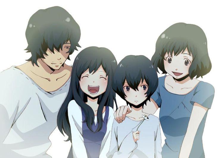 Father, Yuki, Ame & Hana | wolf children | Pinterest