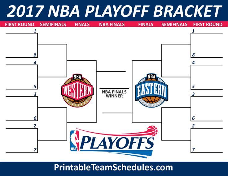 NBA Playoff Bracket 2017 Print Here - http://printableteamschedules.com/NBA/playoffs.php