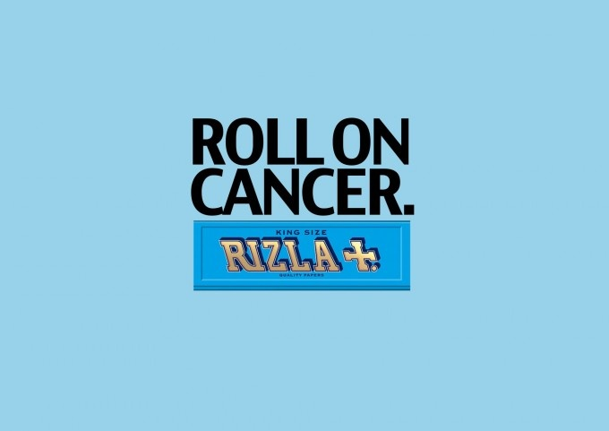 The Chip Shop Awards - Nomination for Best Use of Shocking Copy: 'Roll on cancer' for RIZLA by Charlie Warcup, advertising student at Newcastle Upon Tyne