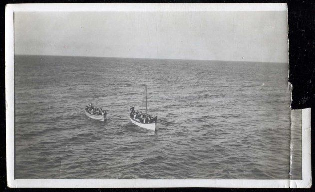 Survivors from the Titanic are pictured here in lifeboats rowing towards rescue ship the Carpathia.    Rare Titanic photos and letters  An archive of incredible photos and handwritten letters acquired from the descendants of Titanic survivors John and Nelle Pillsbury Snyder, who were returning from their honeymoon when the tragedy struck. They were some of the first people to board lifeboats and later rescued by the Carpathia, the first ship that arrived at the disaster scene on the morning…