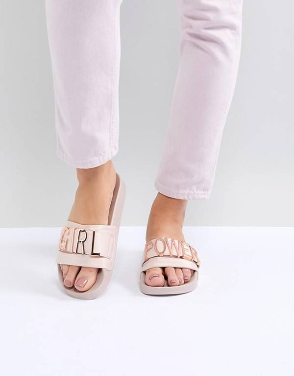 e8b56aa7a41 Steve Madden Girl Power Flat Sliders