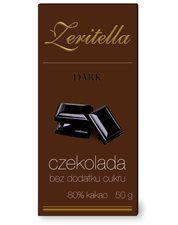 ZERITELLA dark, czekolada bez dodatku cukru, 50 g