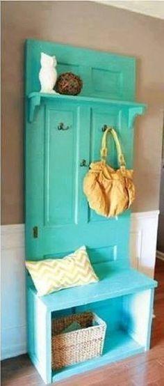 Different ways to reuse old doors