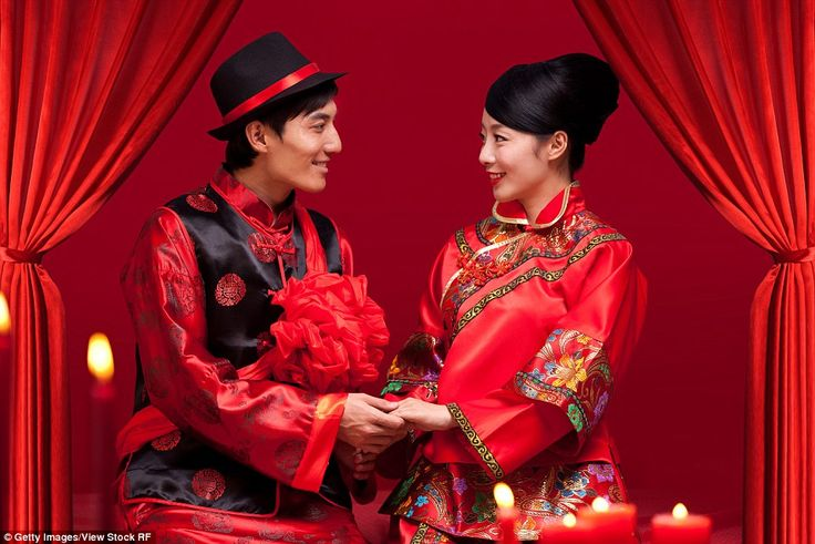 Good luck: China is very rich in culture, and there, red symbolises good fortune (pictured) - it is believed to keep away evil spirits