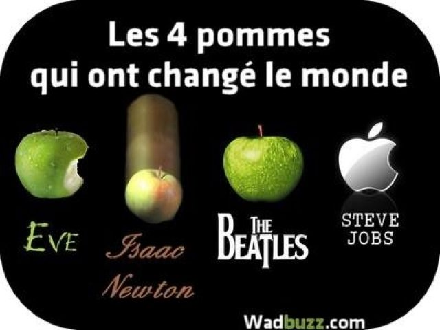 The four apples which changed the world. / Pom Pom....Peedoo !