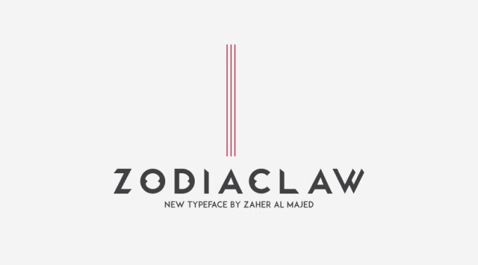 Zodiaclaw is a new typeface that inspired by the lion