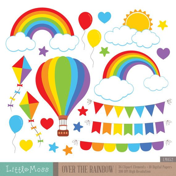 Over The Rainbow Clipart