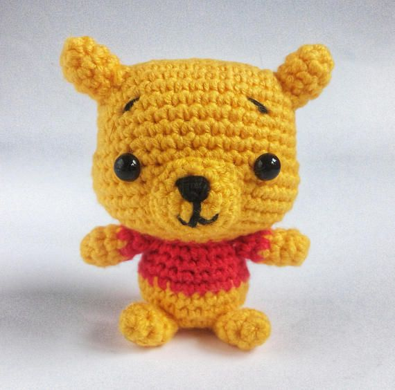 Christmas Ornaments Teddy Bear Cute Crochet Mini Bear
