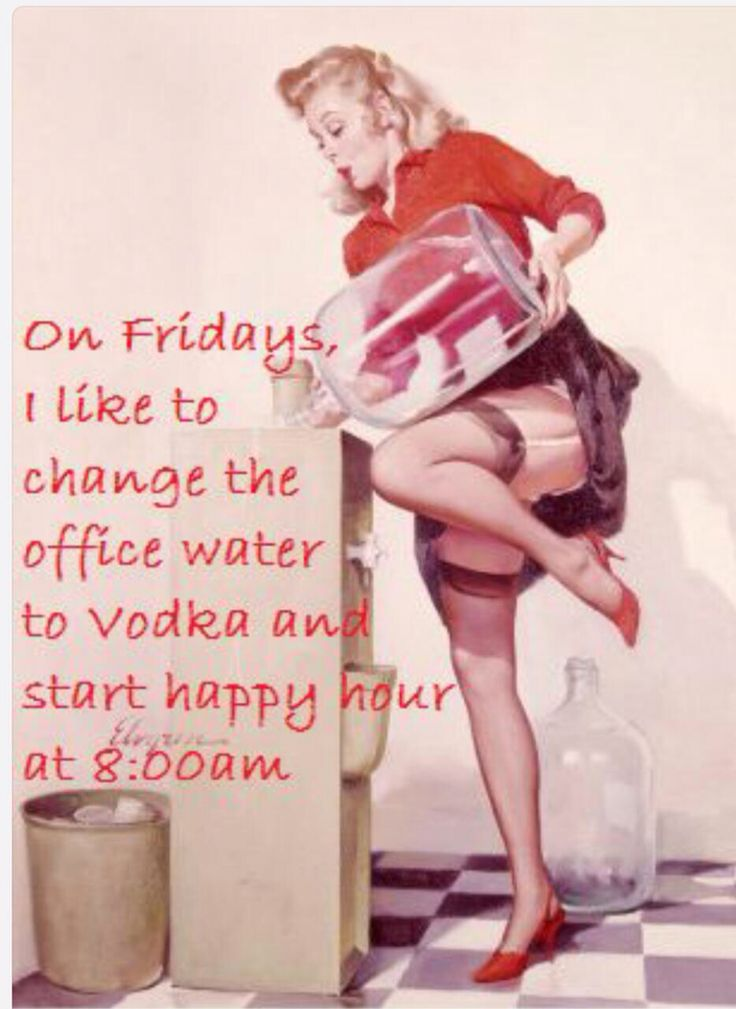 Get that Friday feeling! Bring on the weekend!