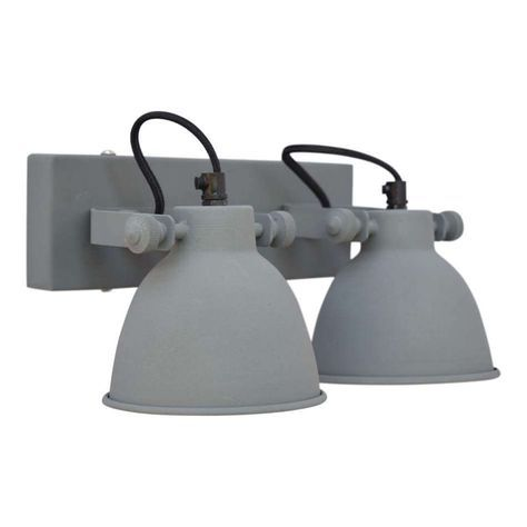 industriele Wandlamp Industrial Double grijs by urban interiors