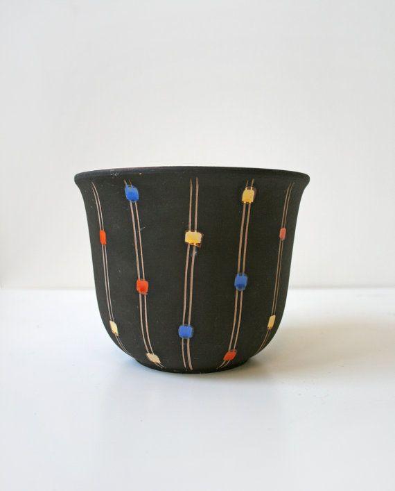 Vintage Steuler Keramik Small Black Ceramic by WestEstShop on Etsy