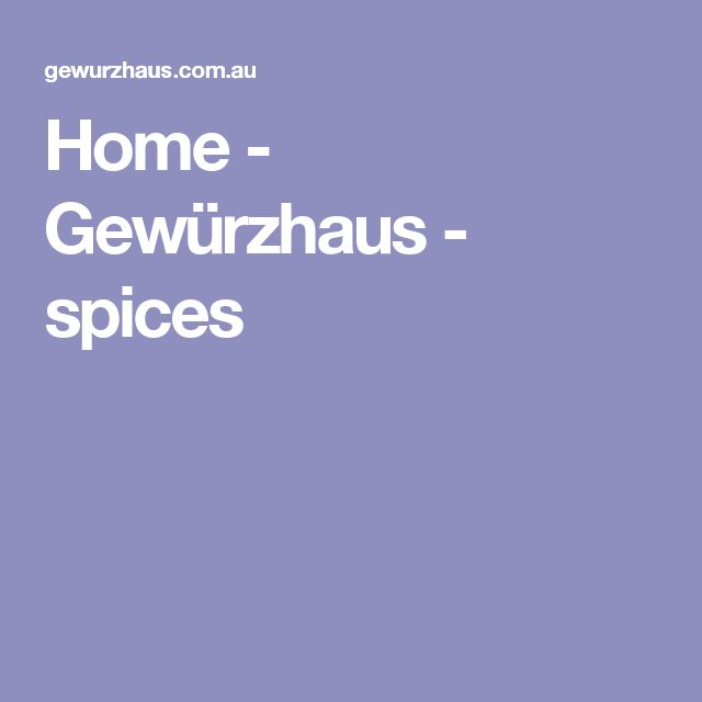Home - Gewürzhaus - spices
