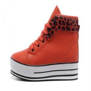 2013 Nuevos Converse Chuck Taylor All Star Zapatos Cecilia Ultra Leopardo Del Cuero Rojo Baratas
