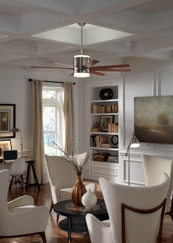 The araya fan by monte carlo has a sleek ultra modern for Modern sleek living room