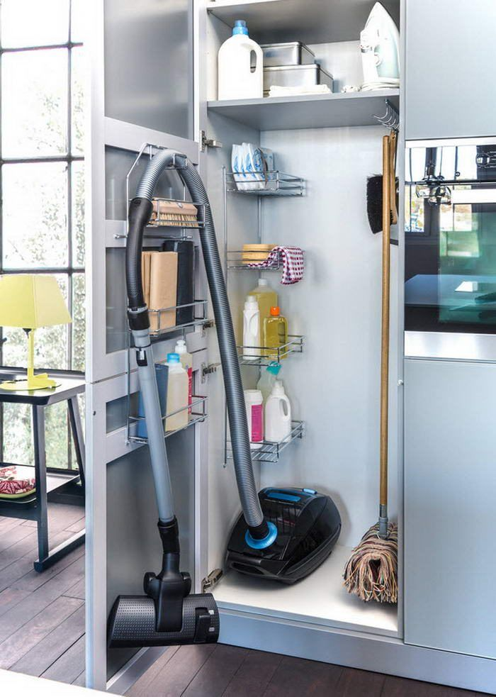 Supply Closet Organization Ideas Part - 42: Marvelous Closet Organizers Ikea Trend New York Contemporary Kitchen  Inspiration With Broom Closet Cleaning Supply Storage Clever Storage  Kitchen ...