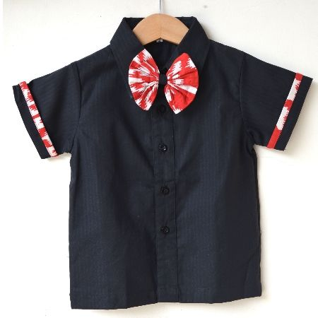Andrew Shirt Stylish shirt with batik accent for your little boys