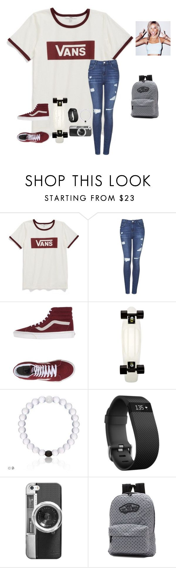"""More skater girl then preppy but I still like this"" by raquate1232 ❤ liked on Polyvore featuring Vans, Topshop, Fitbit and Casetify"