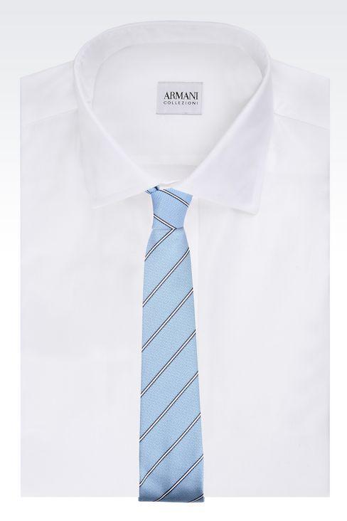 Cravatta Uomo Armani Collezioni - CRAVATTA IN SETA A RIGHE Armani Collezioni Official Online Store