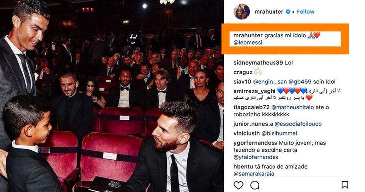 Роналду-младший на своей страничке в Instagram назвал Лионеля Месси своим кумиром. И после этого, его страница сразу исчезла.