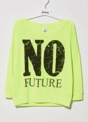 Kup mój przedmiot na #vintedpl http://www.vinted.pl/damska-odziez/bluzy/3459396-neonowa-bluza-blogerska-marki-sinsay