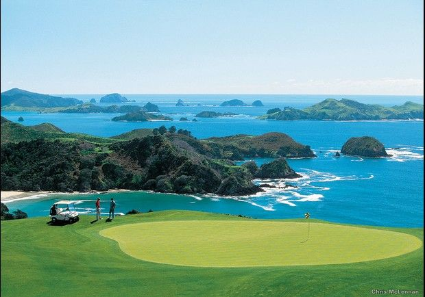 The World's Most Scenic Workouts: Golf at Kauri Cliffs, New Zealand
